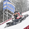 KRISTOPHER RADDER - BRATTLEBORO REFORMER<br /> Crews use a snowcat to groom the Harris Hill Ski Jump in Brattleboro, Vt., on Wednesday, Feb. 15, 2017 as they prepare for the annual ski jump competition this weekend.