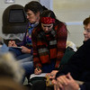 KRISTOPHER RADDER - BRATTLEBORO REFORMER<br /> Jennifer Jacobs, of Brattleboro, writes down her question during a panel forum to discuss gun violence, school shootings, gun safety, and solutions that was hosted by the Brattleboro Reformer on Friday, March 23, 2018.