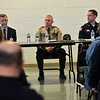 KRISTOPHER RADDER - BRATTLEBORO REFORMER<br /> Several people packed into the multipurpose room at Brattleboro Union High School for a panel forum to discuss gun violence, school shootings, gun safety, and solutions that was hosted by the Brattleboro Reformer on Friday, March 23, 2018.