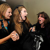 "Ivey Peacock, left and  and Jordan Deger recoil from Katie McQuie as the two friends make their way through the haunted house at the Halloween Party at the Arapahoe Center YMCA in Lafayette. For more photos from the halloween party go to  <a href=""http://www.dailycamera.com"">http://www.dailycamera.com</a>.<br /> Photo by Paul Aiken Monday Oct 24, 2011"