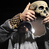 "Gabriel DiGiacomo, of Boulder, holds a skull in front of himself while participating in the Mall Crawl on the Pearl Street Mall in Boulder on Saturday, Oct. 30.<br /> For more photos go to  <a href=""http://www.dailycamera.com"">http://www.dailycamera.com</a><br /> Jeremy Papasso"