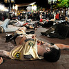 "Mike Procopio, of Boulder, waits for the music to revive him while performing during Michael Jackson's ""Thriller"" on the Pearl Street Mall on Saturday, Oct. 30.<br /> For more photos go to  <a href=""http://www.dailycamera.com"">http://www.dailycamera.com</a><br /> Jeremy Papassoduring the Mall Crawl on the Pearl Street Mall on Saturday, Oct. 30.<br /> For more photos go to  <a href=""http://www.dailycamera.com"">http://www.dailycamera.com</a><br /> Jeremy Papasso"