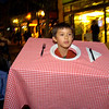 Cameron Sprenger, 9, of Boulder, strolls in costume for the  Halloween celebration on the Pearl Street Mall on Saturday October 30, 2010. <br /> Photo by Paul Aiken / The Camera
