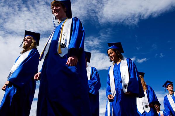 N0522PEAK04.jpg N0522PEAK04<br /> Peak To Peak graduates make their way to their graduation ceremony on Saturday morning May 21st, 2011.<br /> <br /> <br /> Photo by: Jonathan Castner