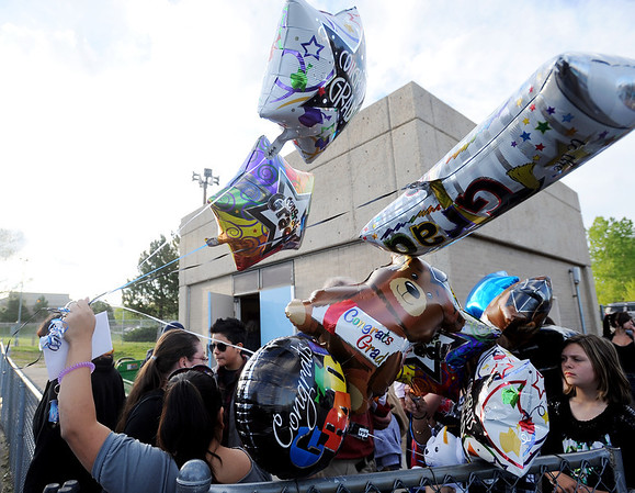 "A  group of balloons are ready for the Centaurus graduates.<br /> For a video and photos of the graduations, go to  <a href=""http://www.dailycamera.com"">http://www.dailycamera.com</a>.<br /> Cliff Grassmick/ May 21, 2011"