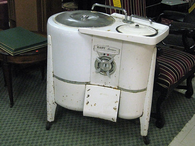 "BOB SANDRICK / GAZETTE ReStore contains a few classic items such as this ""Easy Spindrier"" washing machine."