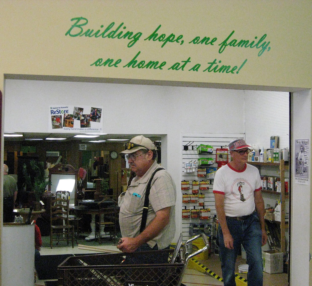 BOB SANDRICK / GAZETTE Customers visit ReStore on Saturday for its sixth anniversary at its 342 East Smith Road location.