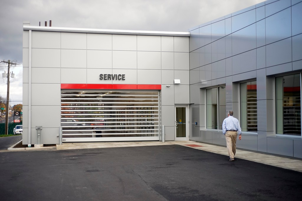. Ths $5 million renovation of Haddad Toyota includes a drive-in service area for all weather convienence, Monday, October 24, 2016. Ben Garver � The Bekshire Eagle
