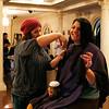 Holly Pelczynski - Bennington Banner Betsy Dunham, Career Development & Internships Coordinator at SVC shows off her donated hair on Tuesday.