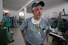 Surgeon Michael McCarry of the Mount Sinai hospital rests between operations at the general hospital in Haiti after the earthquake in Jan. 2010. (Australfoto/Douglas Engle)