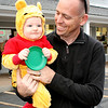 Logan Atkinson, 11 months, attended the Boone Village Halloween Party Tuesday evening, Oct. 29, dressed as Winnie the Pooh. His parents are Clint (pictured) and Michelle Atkinson.