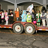 Halloween costume contestants line up and wait to introduce themselves during the Boone Village Halloween Party Tuesday evening, Oct. 29.