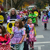 KRISTOPHER RADDER — BRATTLEBORO REFORMER<br /> Students from Bellows Falls Central Elementary School parade through the streets near the school showing off their Halloween costumes on Thursday, Oct. 31, 2019.