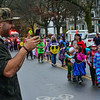 KRISTOPHER RADDER — BRATTLEBORO REFORMER<br /> Feldy Cruz takes photos as students from Bellows Falls Central Elementary School parade through the streets near the school showing off their Halloween costumes on Thursday, Oct. 31, 2019.