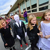 KRISTOPHER RADDER — BRATTLEBORO REFORMER<br /> Students at Central Elementary, in Bellows Falls, display their costumes during the annual Halloween parade on Oct. 31, 2018.