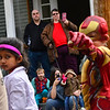 KRISTOPHER RADDER — BRATTLEBORO REFORMER<br /> John and Rena Morin watch as students from Central Elementary, in Bellows Falls, pass their house on Henry Street Ext. during the annual Halloween parade on Oct. 31, 2018.