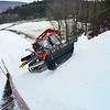 KRISTOPHER RADDER - BRATTLEBORO REFORMER<br /> Crews use a Sno-Cat to groom the snow at the Harris Hill Ski Jump on Wednesday, Feb. 14, 2018.