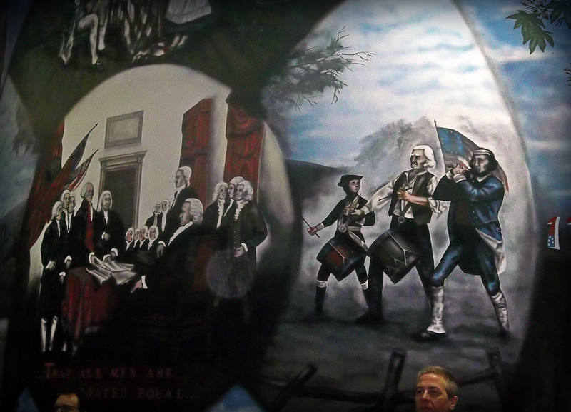 NIKKI RHOADES / GAZETTE Murals by David Beal adorn the walls at Heritage Elementary, which celebrated its 40th anniversary over the weekend.