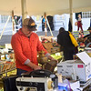 KRISTOPHER RADDER — BRATTLEBORO REFORMER<br /> Colby Dix, from Brattleboro, rummages through the flea tent during the 49th Heritage Festival, in Newfane, Vt., on Sunday, Oct. 13, 2019.