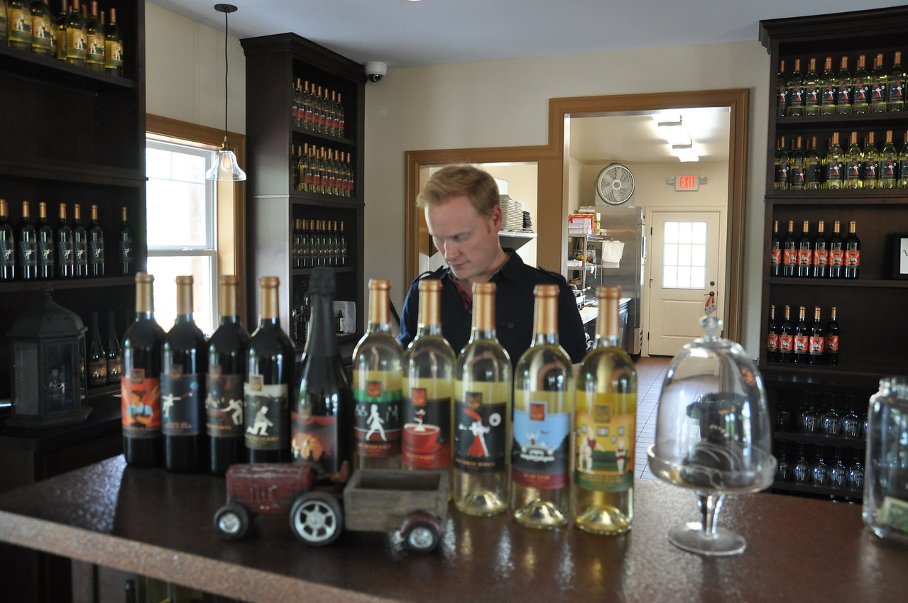 ASHLEY FOX / GAZETTE High and Low Winery owner Matt Snyder lives in Akron and is a graduate of Highland High School, Baldwin Wallace and William & Mary.