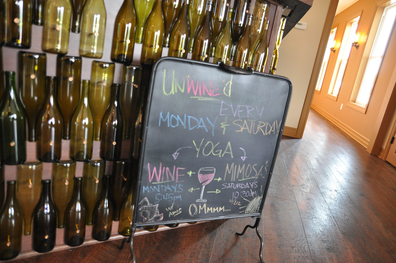 ASHLEY FOX / GAZETTE High and Low Winery in Medina host a variety of activities, including Yoga through the week.