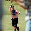 "John ""Crush"" Sumner pitches the ball on Sunday, July 31, during a historic baseball game at Walker Ranch in Boulder County. For more photos of the game go to  <a href=""http://www.dailycamera.com"">http://www.dailycamera.com</a><br /> Jeremy Papasso/ Camera"