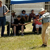 """Walker Ranch All-Star Larry """"The Weasel"""" Colbenson hits the ball on Sunday, July 31, during a historic baseball game at Walker Ranch in Boulder County. For more photos of the game go to  <a href=""""http://www.dailycamera.com"""">http://www.dailycamera.com</a><br /> Jeremy Papasso/ Camera"""