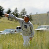 "Denver Blue Socks Michael ""Shark"" Renker throws a ball from the tall grass in the outfield on Sunday, July 31, during a historic baseball game at Walker Ranch in Boulder County. For more photos of the game go to  <a href=""http://www.dailycamera.com"">http://www.dailycamera.com</a><br /> Jeremy Papasso/ Camera"