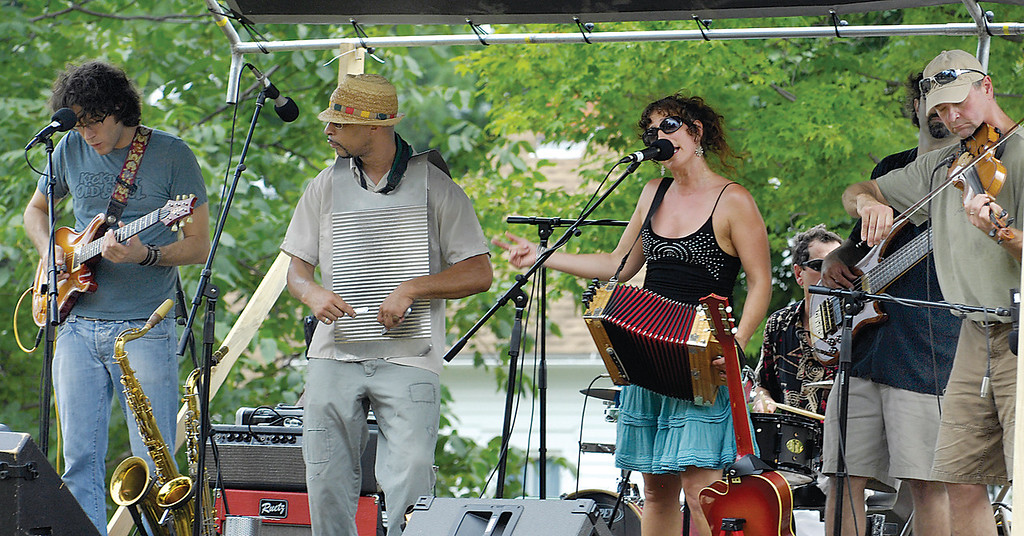 . Mo\' Mojo entertains the crowds during the Raccooon Country Music Festival in 2010 at Burton\'s Century Village. (News-Herald file)