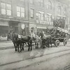 Photo provided by Lorain Historical Society <br> A loaded horse-drawn wagon parks in front of S. Klein & Co., Lorain.