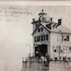 Photo provided by Jim Long <br> This 1920 photograph of Lorain Lighthouse was manned at the time by a lighthouse tender.
