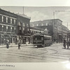 "Photo provided by Lorain Historical Society <br> ""At the loop"" on Broadway and West Erie avenues a trolly turned around to head in the other direction in Lorain, Ohio."