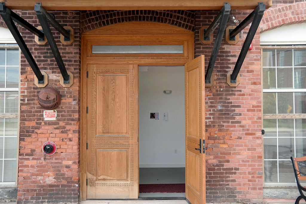 """. the 5 Hoosac Street Gallery on Adams is showing an exhibit called \""""The Mill Children\"""" featuring the photographs of Lewis Hine, and the paintings of Dawn Nelson and Bill Oberst. Wednesday Aug. 6, 2014. Ben Garver / Berkshire Eagle Staff / photos.berkshireeagle.com"""