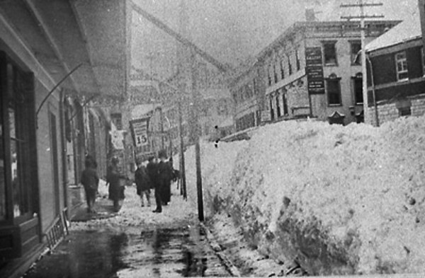 Eagle Street in North Adams following the Blizzard of 1888.  March 13th 1888 (File Photo)