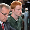Defense attorney Peter Moschetti sits with Brendan Hoffman during his sentencing before Judge Debra Young in Rensselaer County Court, Thursday April 24, 2014 (Mike McMahon - The Record)