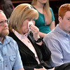 Brendan Hoffman's father, mother and brother watches  sentencing before Judge Debra Young in Rensselaer County Court, Thursday April 24, 2014 (Mike McMahon - The Record)