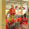 KRISTOPHER RADDER - BRATTLEBORO REFORMER<br /> Jason Disy, the general manager at Target in Keene, N.H., preps his team before opening the doors for the holiday shoppers.