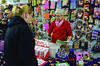 Families who received vouchers for the Northern Berkshire Santa Fund do their gift shopping at Cariddi Sales on State Road in North Adams on Friday, Dec. 20, 2013. Rep. Gailanne Cariddi works the front counter. (Gillian Jones/North Adams Transcript)