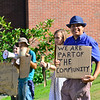 KRISTOPHER RADDER — BRATTLEBORO REFORMER<br /> The Homeless Revolution continued outside the Municipal Building, in Brattleboro, on Friday, Aug. 9, 2019.