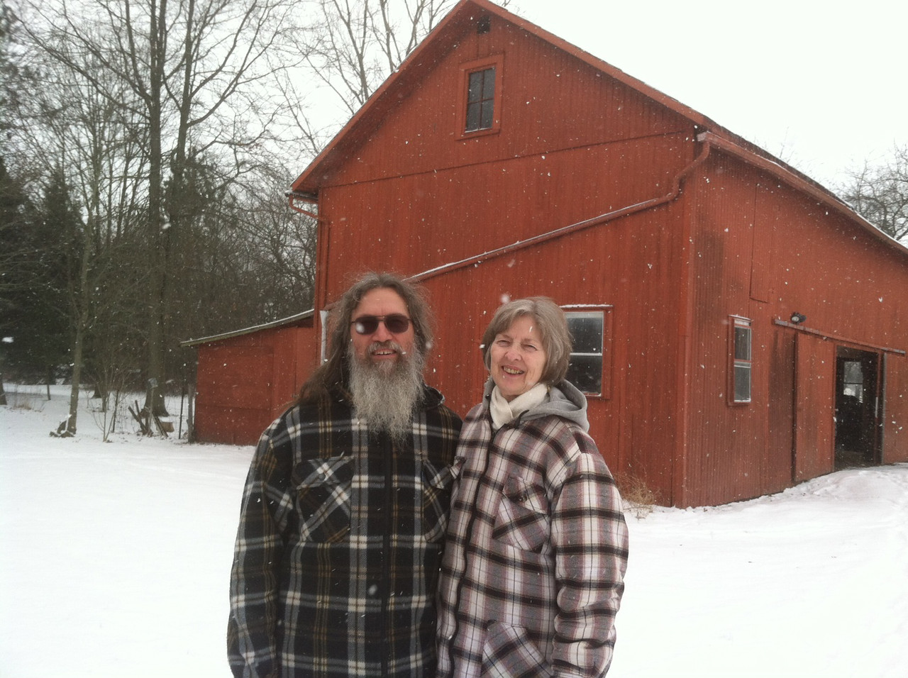PHOTO PROVIDED Claude and Mary Cuchna, residents of Homer Township, have donated their 20-acre property to Western Reserve Land Conservancy, a nonprofit organization. The action, called an easement, is the first recorded in the township.