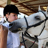"Toni Bellitt, of Boulder,tries to keep her sandwich  from her horse, Sonatta, during  English showmanship on Thursday at the Boulder County Fair in Longmont.<br /> For more photos and video of horses, go to  <a href=""http://www.dailycamera.com"">http://www.dailycamera.com</a>.<br /> Cliff Grassmick / July 28, 2011"