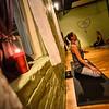 KRISTOPHER RADDER — BRATTLEBORO REFORMER<br /> Kristin Cassidy instructs a hot yoga class at BODHiFIT on Thursday night, Jan. 31, 2019, as temperatures drop below zero.