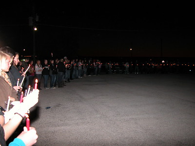 Hunter Moke Candlelight Vigil
