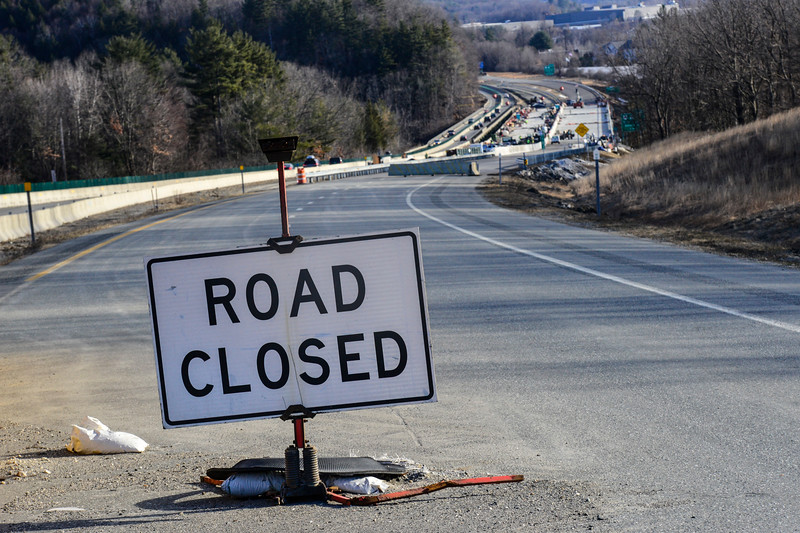 KRISTOPHER RADDER - BRATTLEBORO REFORMER<br /> Crews prepare the I-91 northbound lane on Friday, March 3, as the public will be allowed to walk it on Saturday.