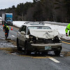 KRISTOPHER RADDER - BRATTLEBORO REFORMER<br /> Car v. tractor-trailer collision on I-91 Southbound at mile marker 3 closes off a lane for clean-up. One person was transported for minor injuries to Brattleboro Memorial Hospital. Cause is under investigation.