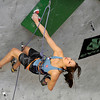 "Team Japan's Akiyo Noguchi climbs during an International Federation of Sport Climbing (IFSC) Lead World Cup competition on Saturday, Oct. 8, at Movement Climbing and Fitness on 28th Street in Boulder. For more photos and a video of the event go to  <a href=""http://www.dailycamera.com"">http://www.dailycamera.com</a><br /> Jeremy Papasso/ Camera"
