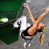 "Team Slovania's Maja Vidmar climbs during an International Federation of Sport Climbing (IFSC) Lead World Cup competition on Saturday, Oct. 8, at Movement Climbing and Fitness on 28th Street in Boulder. For more photos and a video of the event go to  <a href=""http://www.dailycamera.com"">http://www.dailycamera.com</a><br /> Jeremy Papasso/ Camera"
