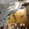 "A climber scales the wall during an International Federation of Sport Climbing (IFSC) Lead World Cup competition on Saturday, Oct. 8, at Movement Climbing and Fitness on 28th Street in Boulder. For more photos and a video of the event go to  <a href=""http://www.dailycamera.com"">http://www.dailycamera.com</a><br /> Jeremy Papasso/ Camera"