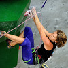 """Team USA's Chelsea Rude climbs during an International Federation of Sport Climbing (IFSC) Lead World Cup competition on Saturday, Oct. 8, at Movement Climbing and Fitness on 28th Street in Boulder. For more photos and a video of the event go to  <a href=""""http://www.dailycamera.com"""">http://www.dailycamera.com</a><br /> Jeremy Papasso/ Camera"""
