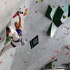"Team Austria's Angela Eiter climbs during an International Federation of Sport Climbing (IFSC) Lead World Cup competition on Saturday, Oct. 8, at Movement Climbing and Fitness on 28th Street in Boulder. For more photos and a video of the event go to  <a href=""http://www.dailycamera.com"">http://www.dailycamera.com</a><br /> Jeremy Papasso/ Camera"
